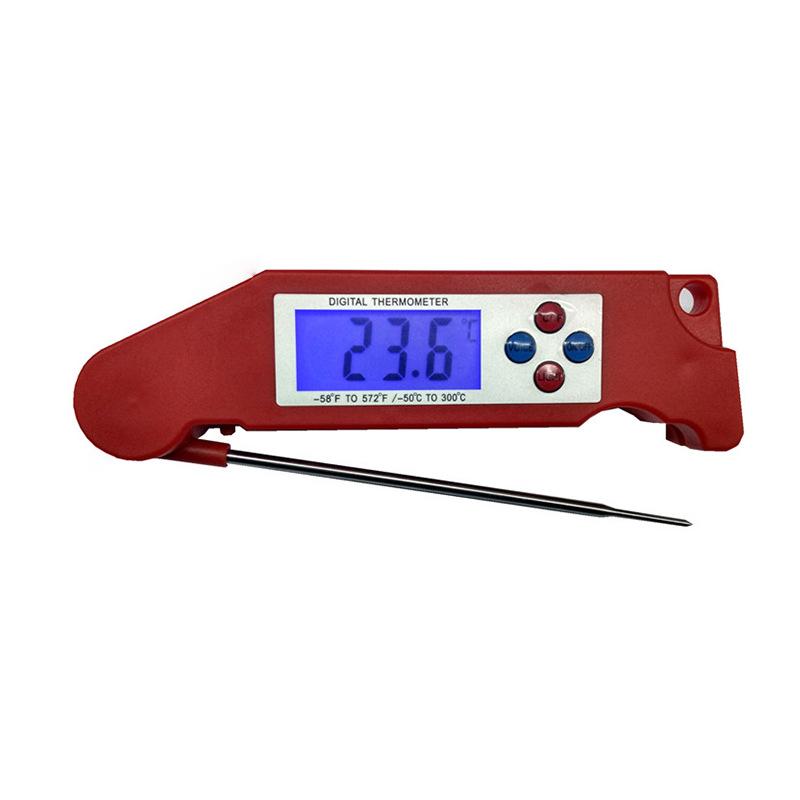温美测LN009数字温度计 三色背光语音播报 探针式厨房食物温度计