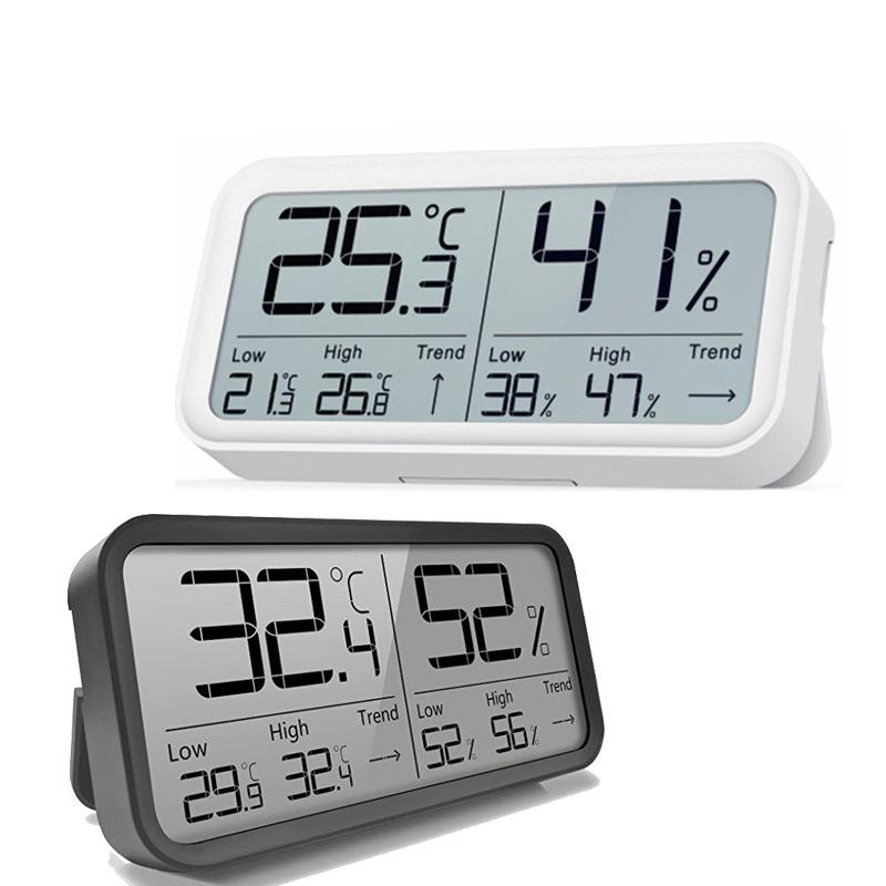 温美测LDTH-8摆台式电子数显大屏幕温湿度计LCD无线数字家用立式干湿温度计