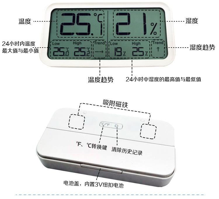 电子数显大屏幕温湿度计