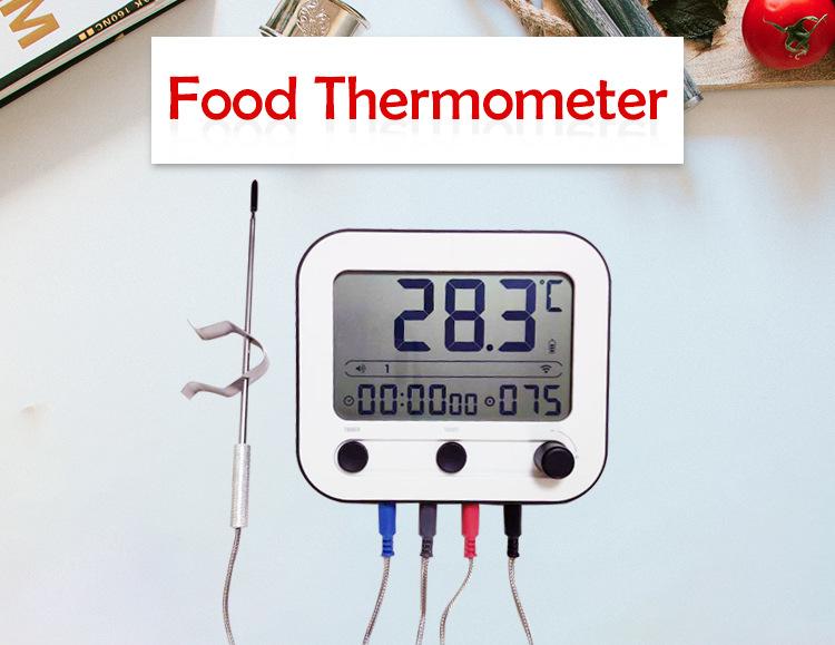 蓝牙 WiFi智能云服务烧烤温度计 咖啡烘焙食品厨房温度计烤箱烤炉