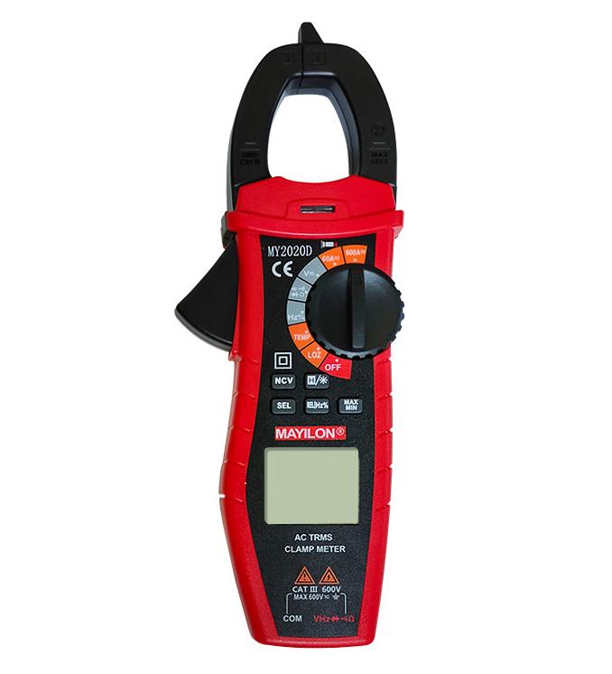 郎恩2020D数字交直流钳形表万用表非接触式电流电压电阻感应测量仪表万能表